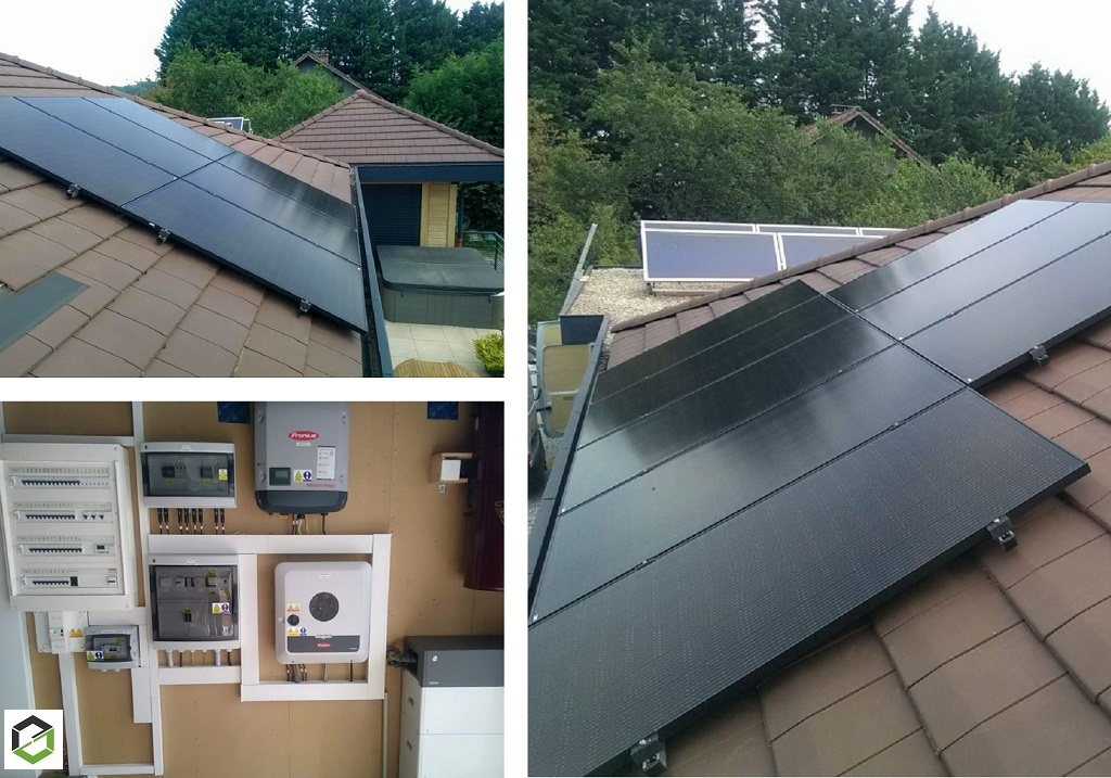 Installation panneaux solaire photovoltaique 8.250 kWc auto consommation avec batterie, découplage réseau et vente surplus-Savoie (73)