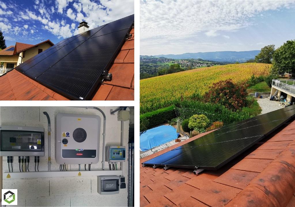 Installation panneaux solaire photovoltaique 6 kWc auto consommation avec vente surplus et Ohmpilot-Haute Savoie (74)