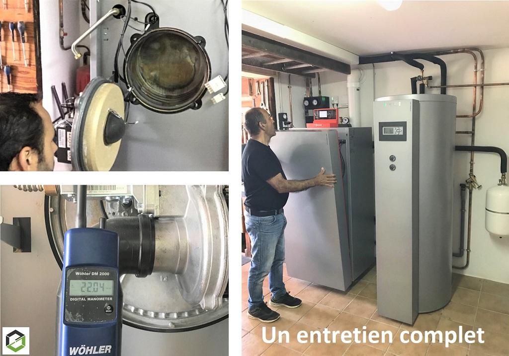 Entretien d'une chaudière Gaz Condensation VIESSMANN  Vitocrossal 300