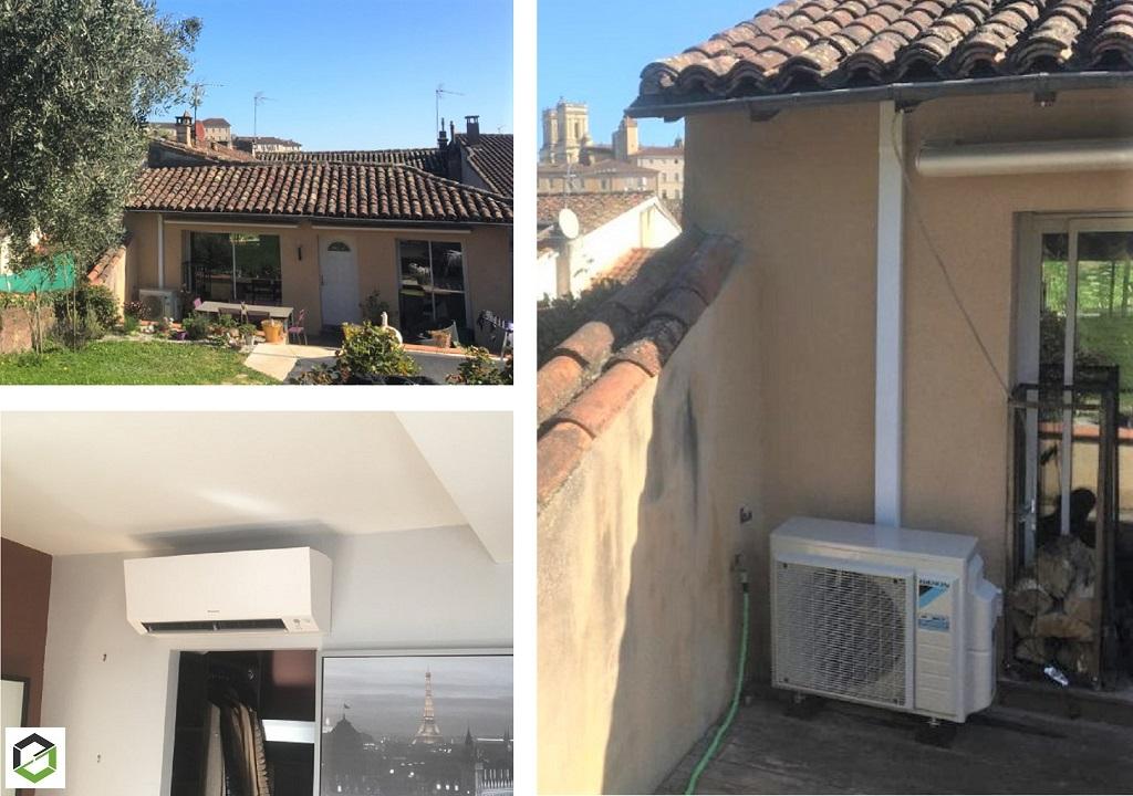 Installation d'une pompe à chaleur Air/Air (climatisation) réversible DAIKIN