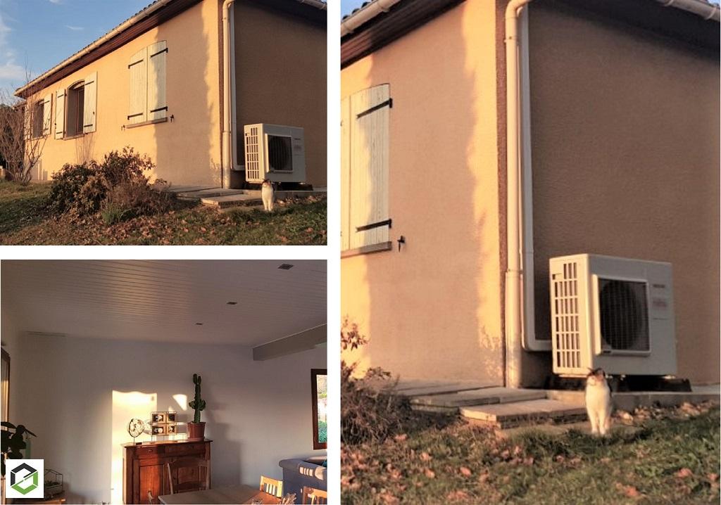 RGE QualiPAC - Installation d'une clim gainable réversible (pompe à chaleur Air/Air) ATLANTIC avec régulation Zone contrôle