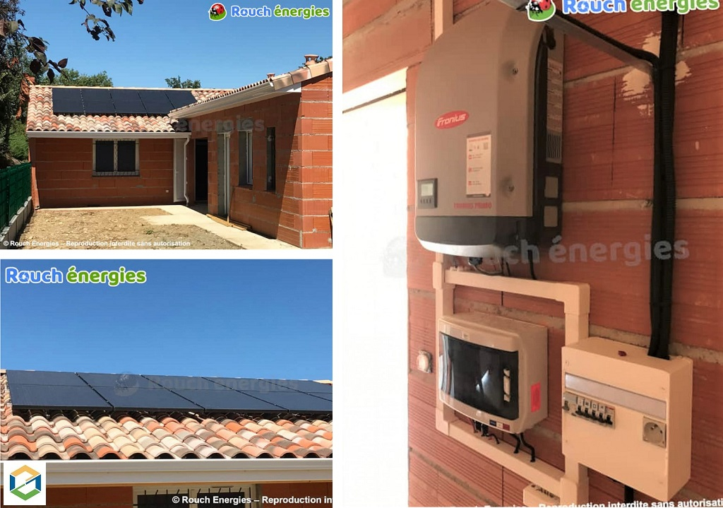 Installation photovoltaïque sur maison neuve