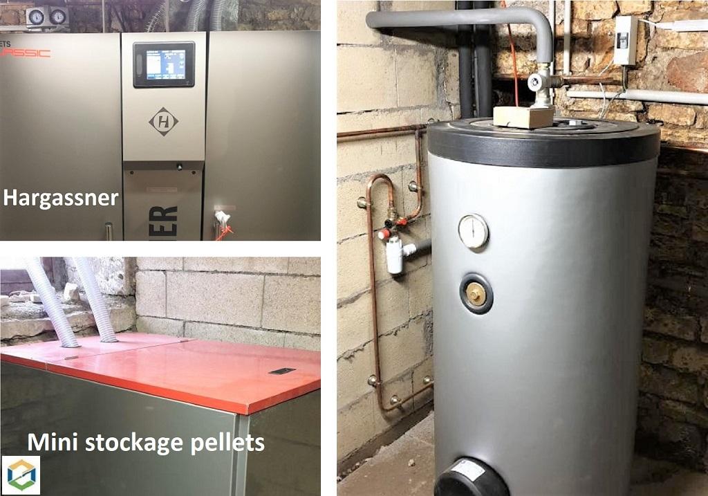 installation chaudière pellets hargassner Classic Lambda