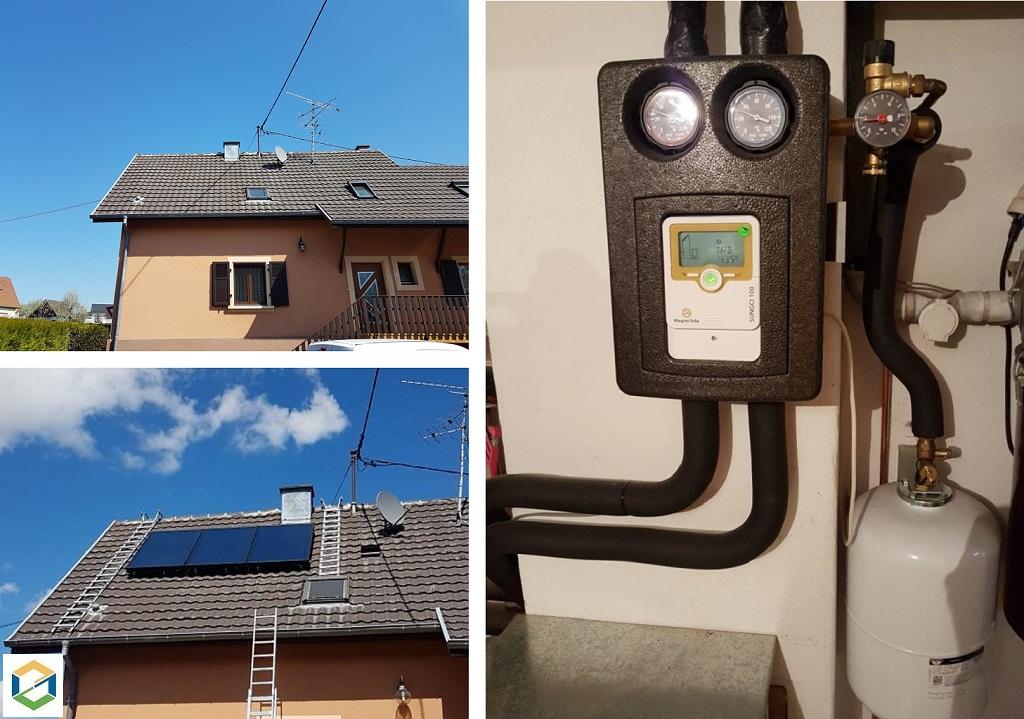 Installation panneaux solaires thermiques (chauffage solaire et chauffe eau solaire) SSC & CESI