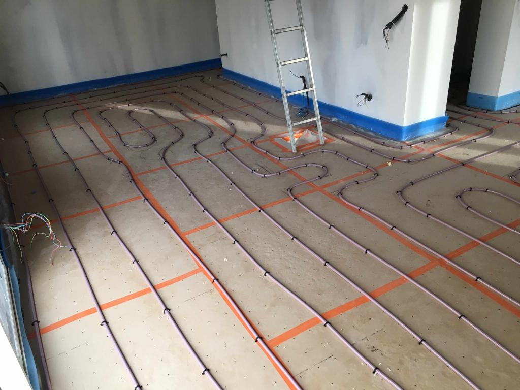Realisation plancher chauffant Dijon