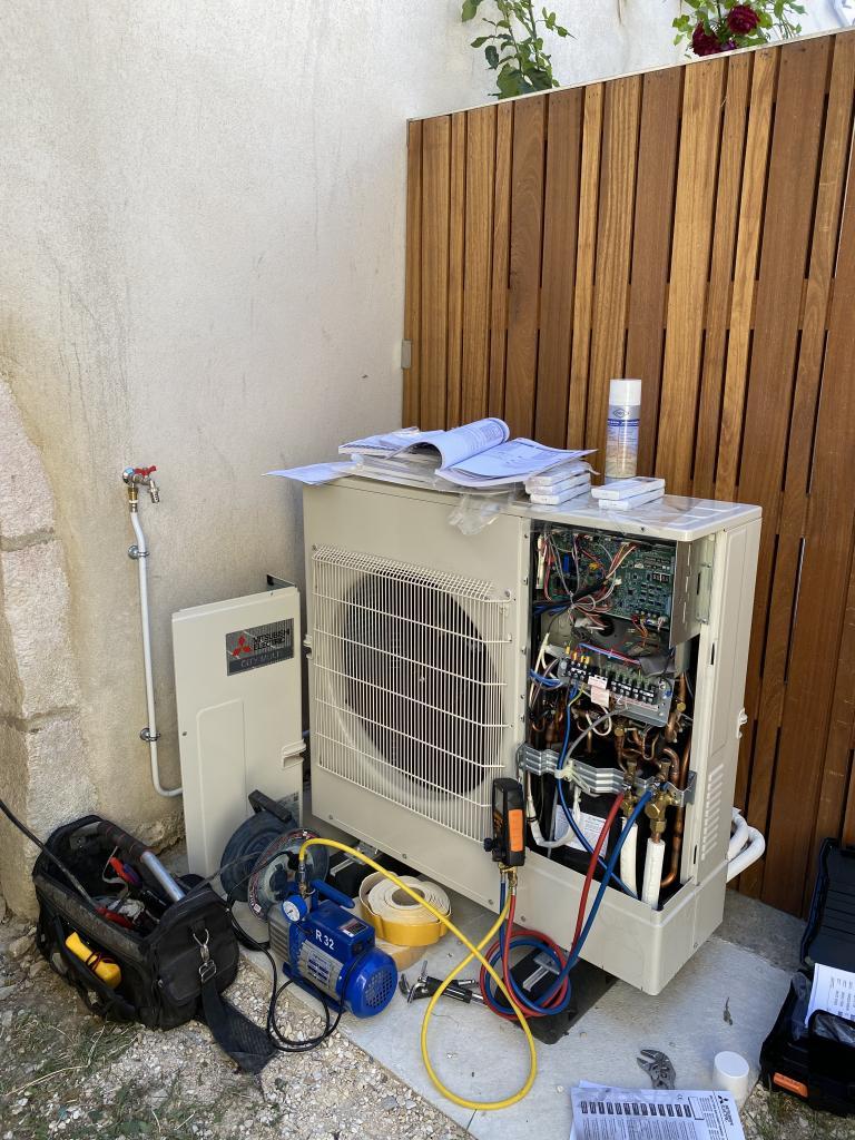 pose pompe a chaleur air/air mitsubishi dijon systeme DRV