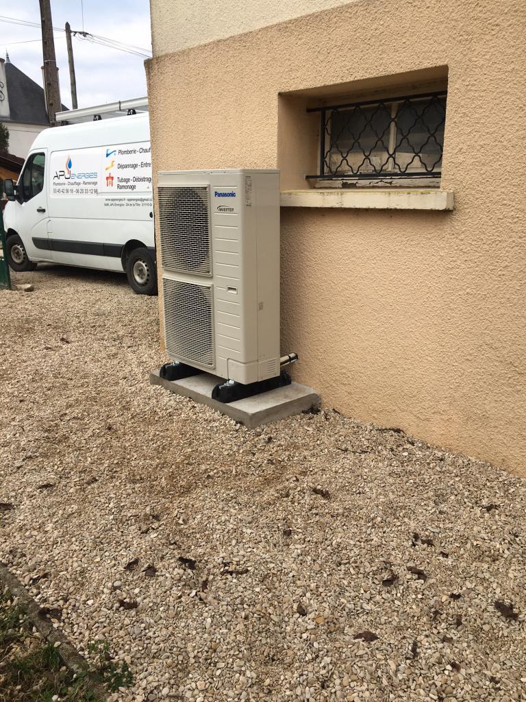 Installation pompe à chaleur PANASONIC T CAP  21