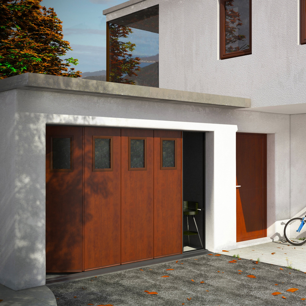 Produit catalogue Franciaflex - Porte de garage sectionnelle latérale Millau