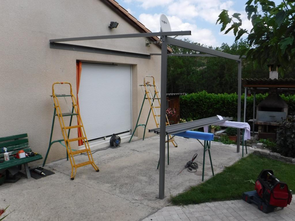 Notre réalisation Pergola en acier vitrée Millau Aveyron