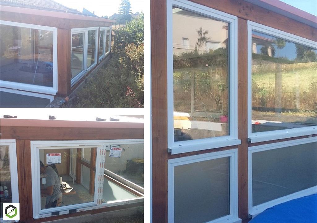 Notre réalisation - rénovation de véranda ossature bois