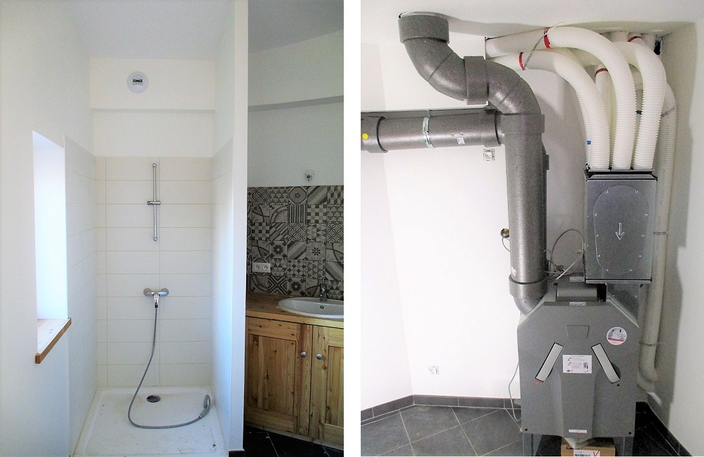 Installation d'une Ventilation Double Flux dans une maison à très basse consommation d'énergie-Hautes Alpes (05)