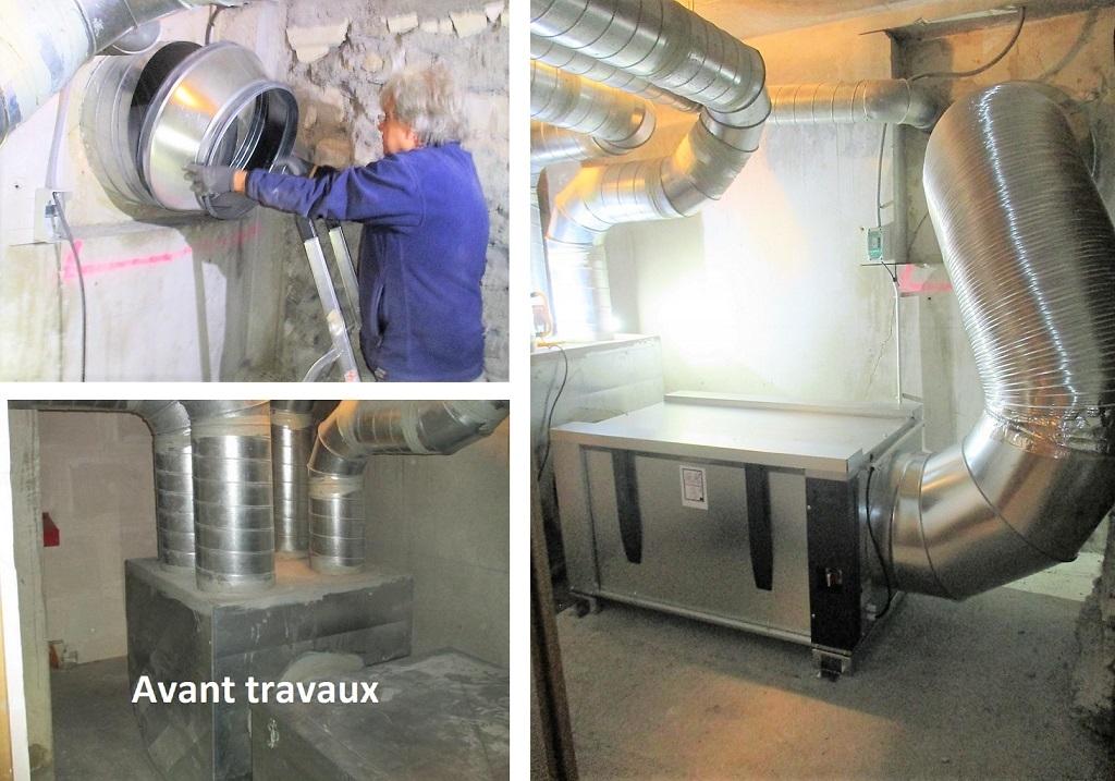 installation extracteur d'air simple flux dans une résidence d'habitation-Savoie (73)