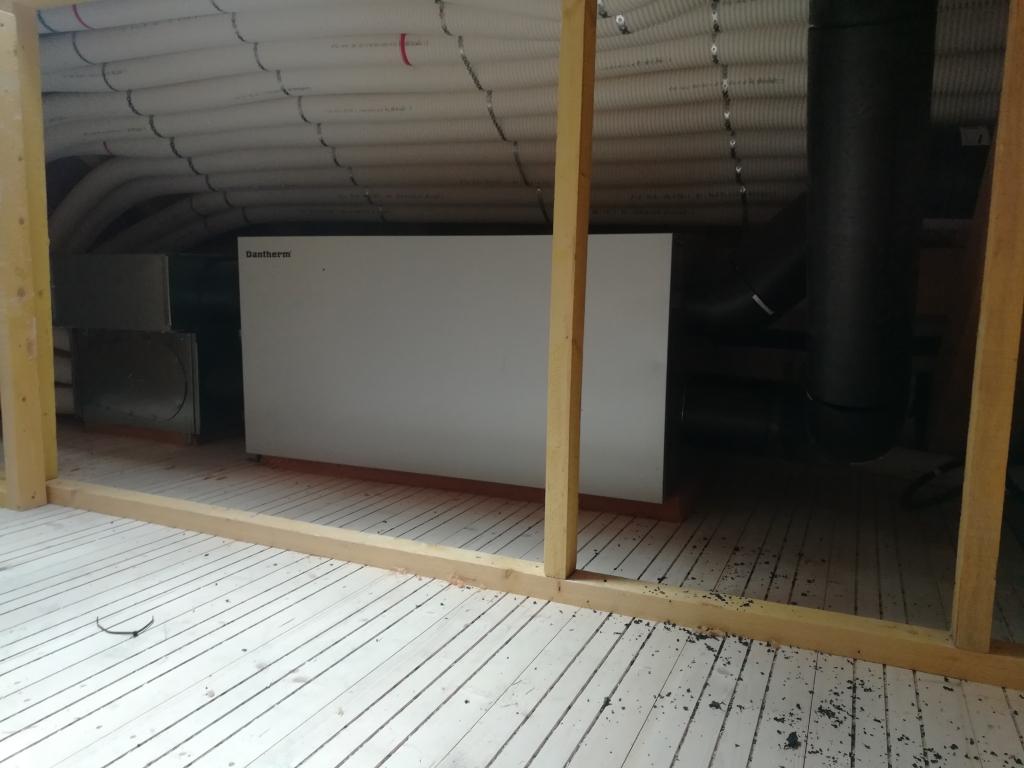 Installation vmc double flux en bas de rampant