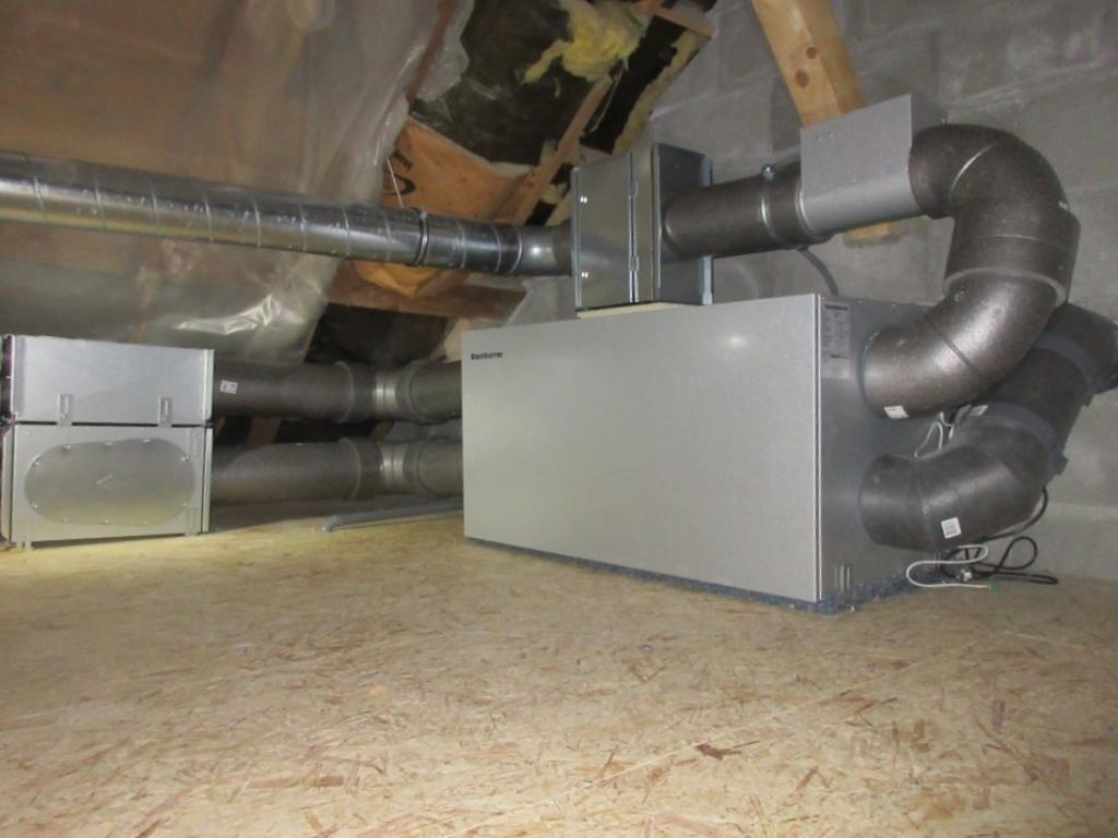 Installation d'une ventilation double flux en grenier non-isolé-Hautes Alpes (05)