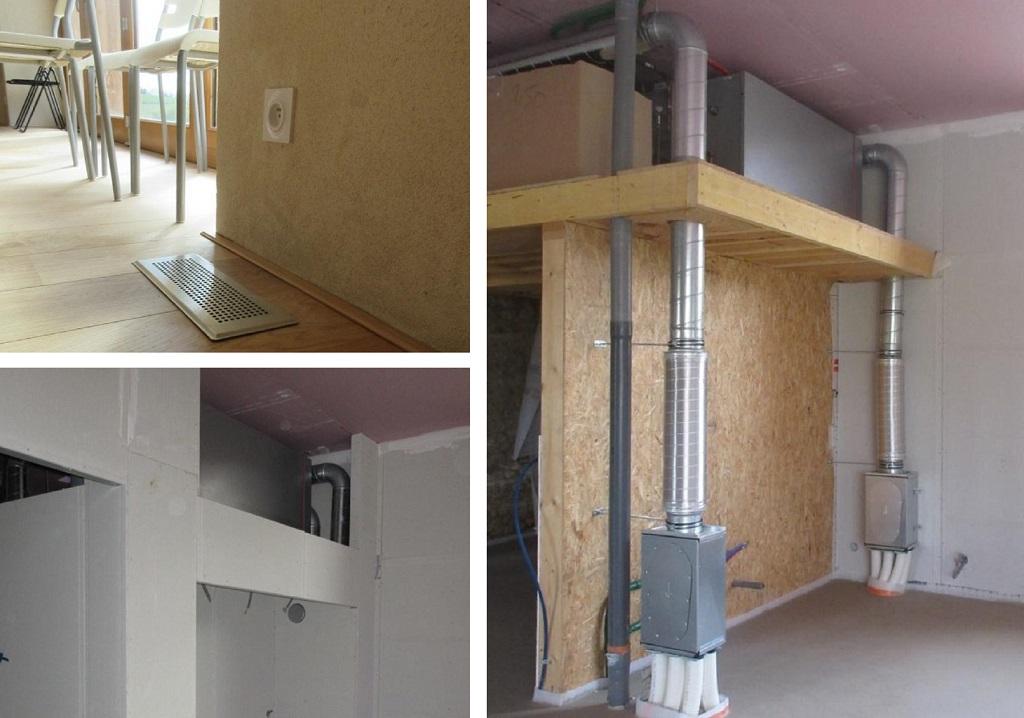 Installation d'une vmc double Flux dans un local d'accueil-Isère (38)