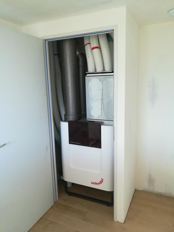 Installation d'une Ventilation Double Flux dans une maison à très basse consommation d'énergie