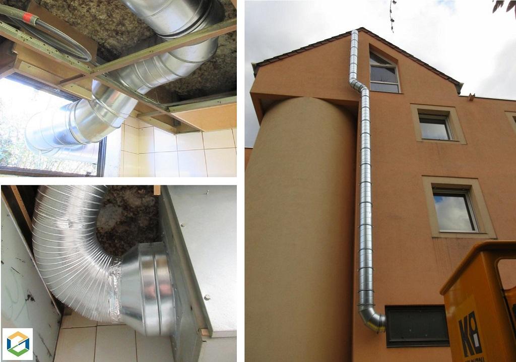 Installation VMC TERTIAIRE : pose de gaines de ventilation pour un restaurant - Grenoble-Isère (38)