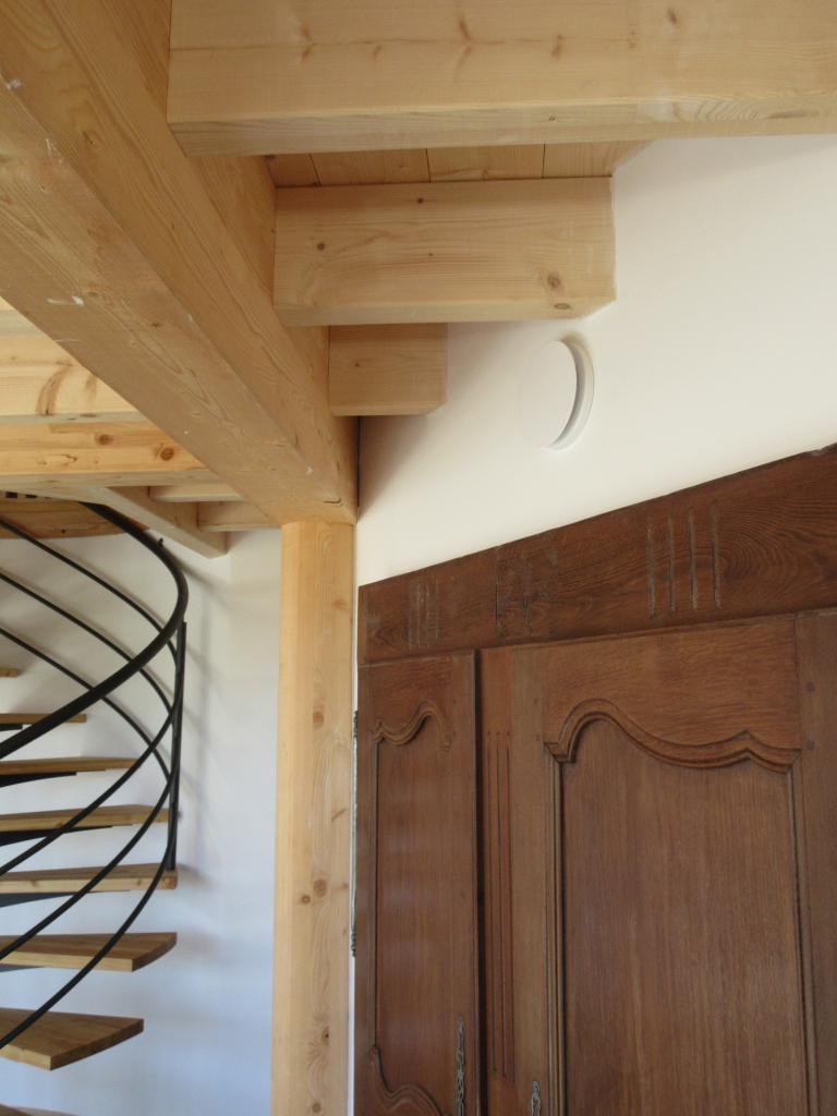 Installation d'une VMC double flux dans une masion en ossature bois très basse consommation-Hautes Alpes (05)
