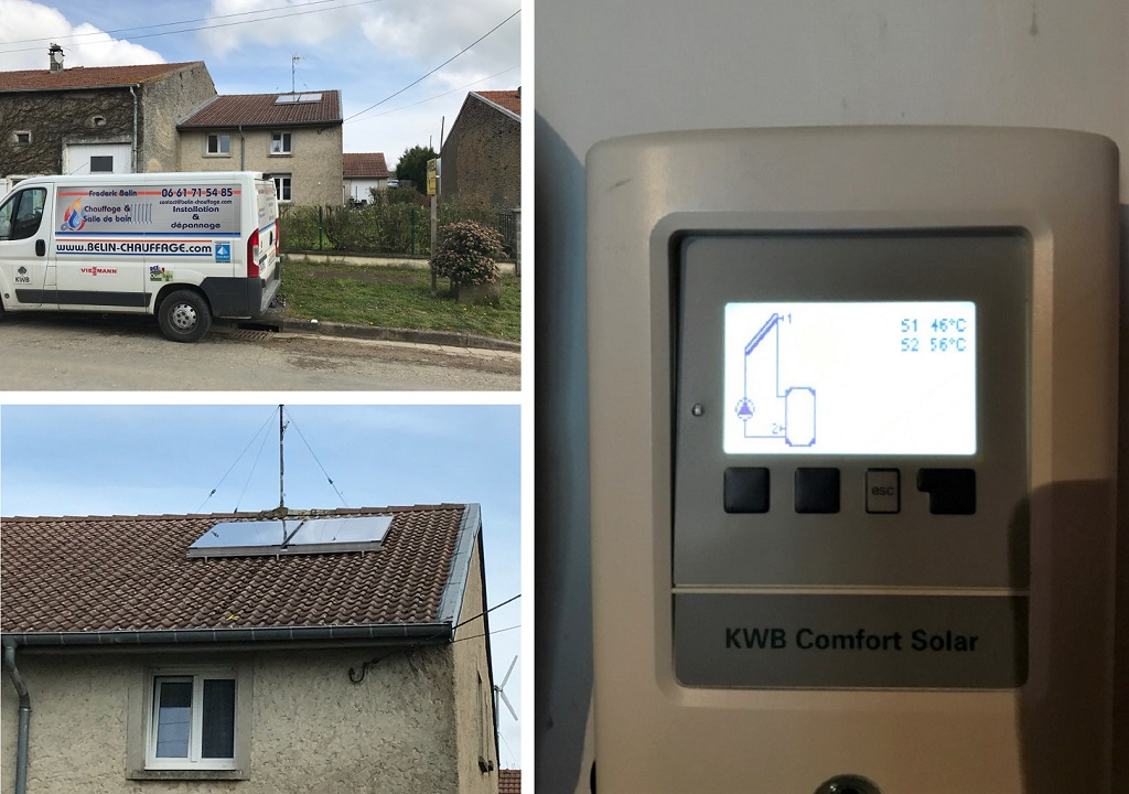Installation de panneaux solaires thermique KWB en Meurthe Et Moselle (54)