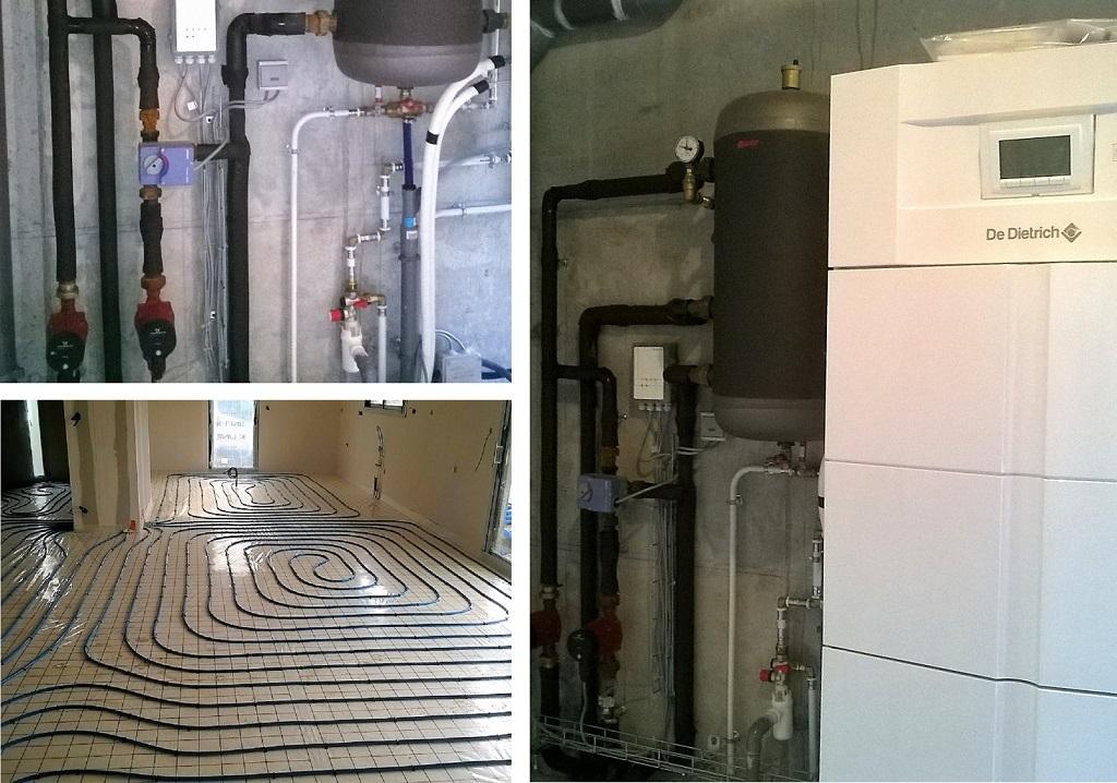 Installation d'une PAC - pompe à chaleur Air / Eau
