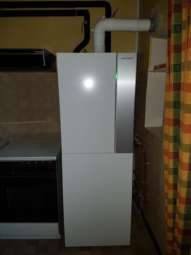 Installation chaudière gaz condensation WEISHAUPT