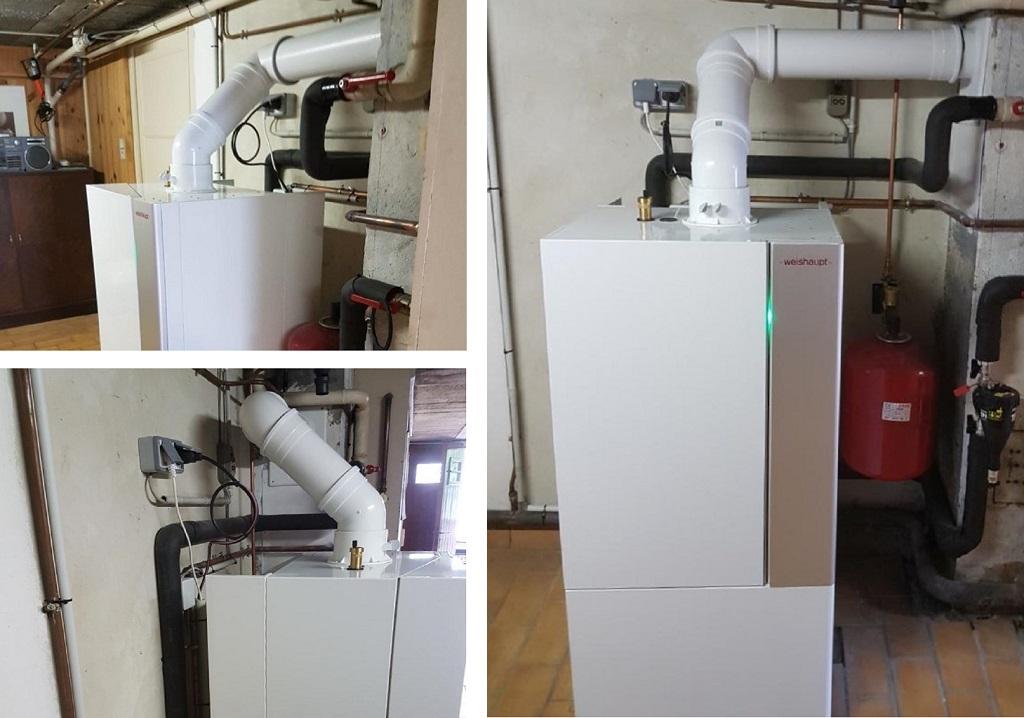 Chaudière gaz condensation WEISHAUPT - entreprise plombier chauffagiste gaz