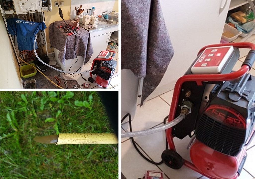 Désembouage circuit de radiateurs - entreprise plombier chauffagiste