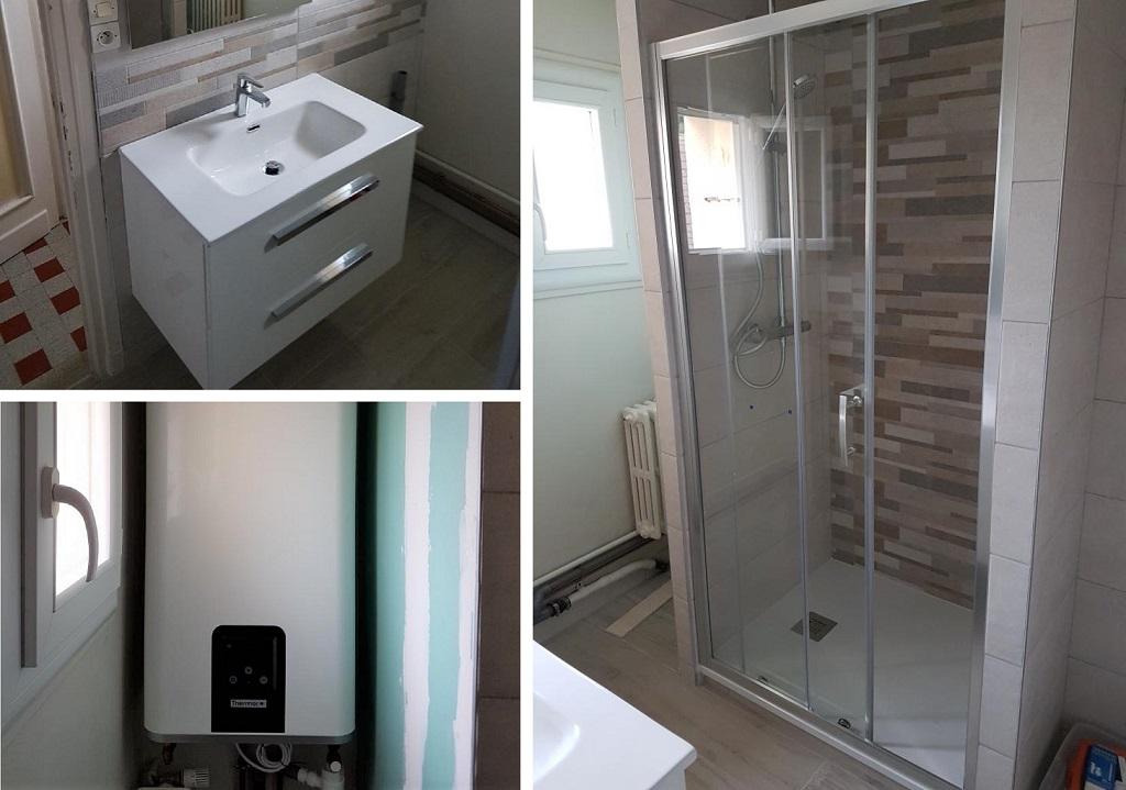 Rénovation d'une salle de bain dans un Appartement - entreprise plombier sanitaire