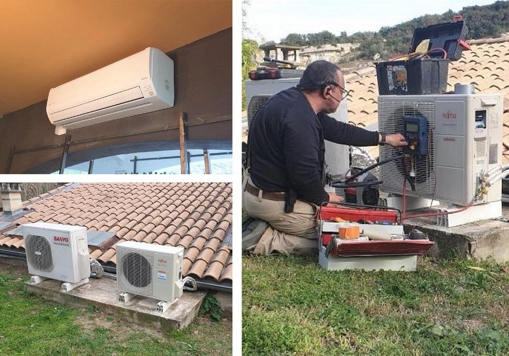 Raccordement et mise en service climatiseur Atlantic Fujitsu  gard 30