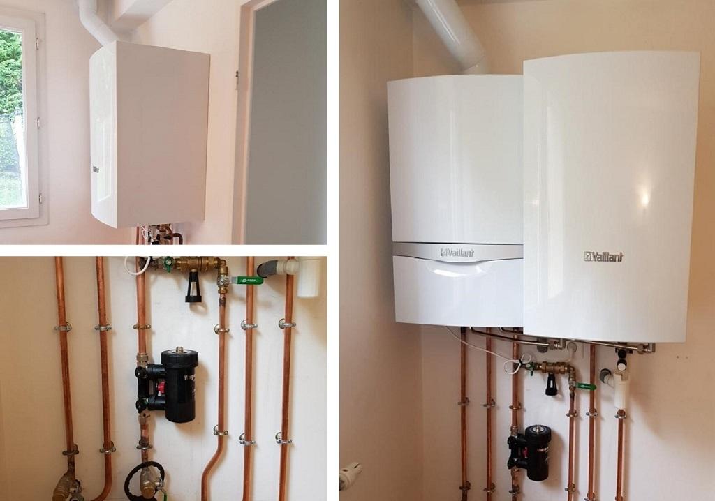 Installation chaudière gaz condensation Vaillant - Remplacement et déplacement