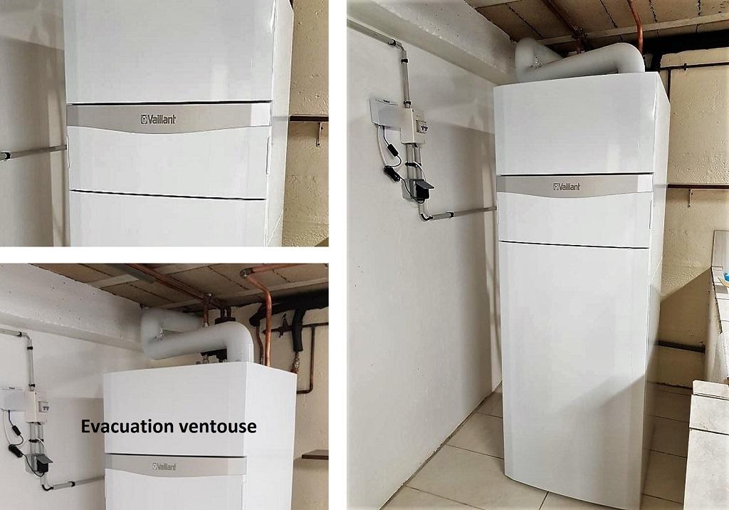 Installation chaudière gaz condensation VAILLANT