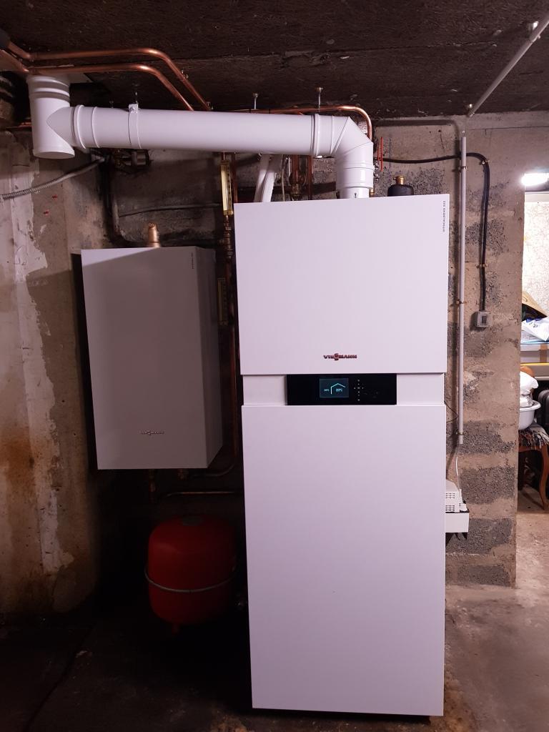 Pompe à chaleur hybride gaz VIESSMANN VITOCALDENS à Vigny 95 val d'Oise
