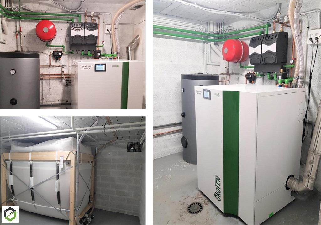 Installation chaudière à granulés ÖKOFEN condensation -Val d'Oise (95)