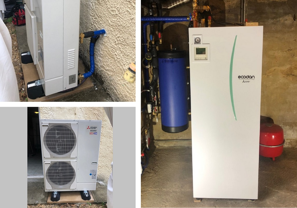 Pompe à chaleur air / eau Mitsubishi Electric zubadan à Maurens près de Bergerac