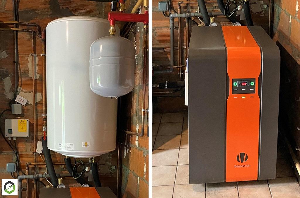 Pompe à chaleur Géothermique du fabricant francais Lemasson sur forage d'eau