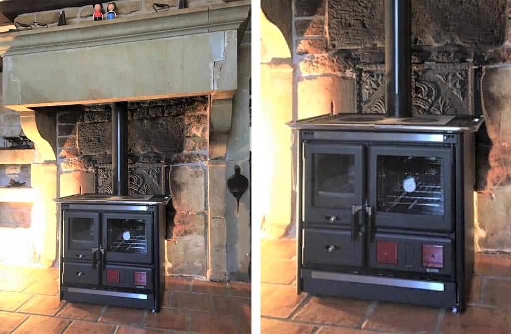 Installation d'une cuisinière à bois