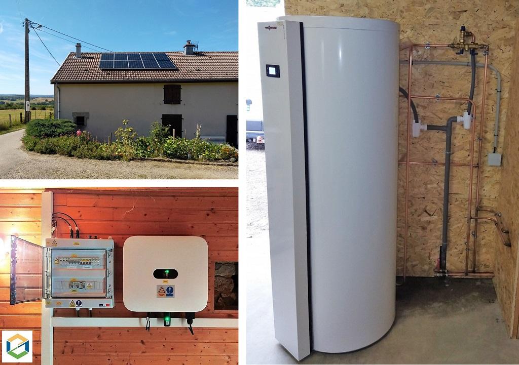 Installation photovoltaïque et chauffe-eau thermodynamique chez un particulier