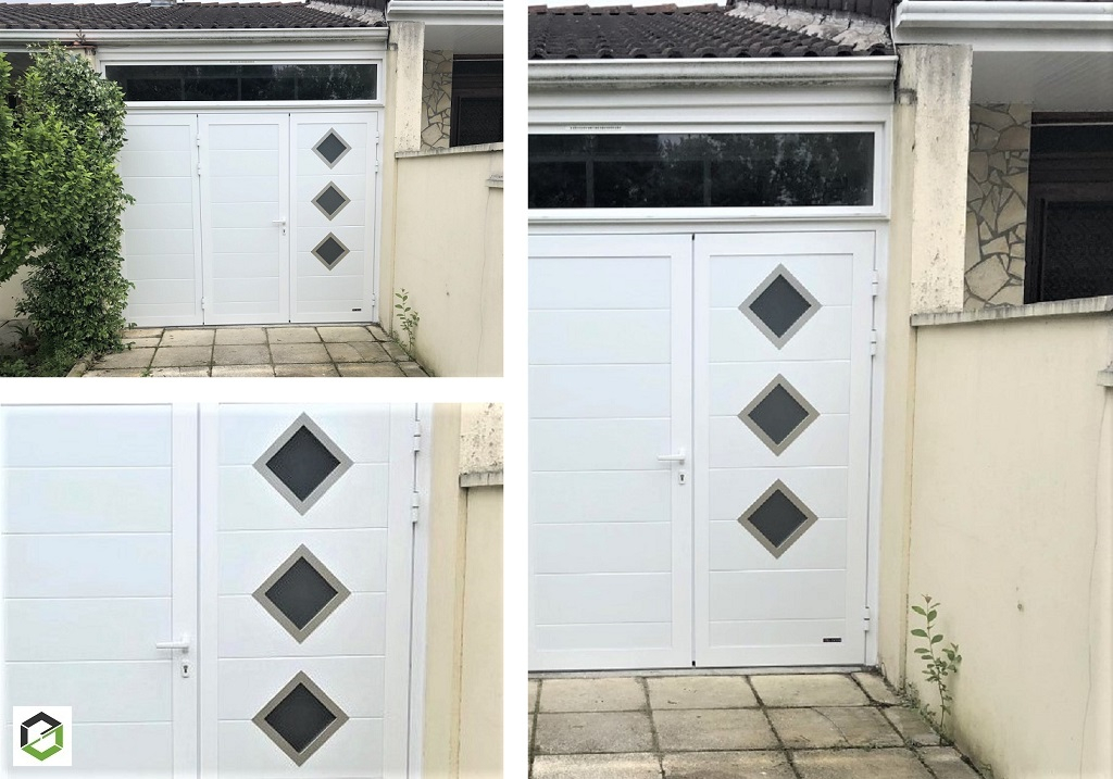 Installation d'une porte de garage battante