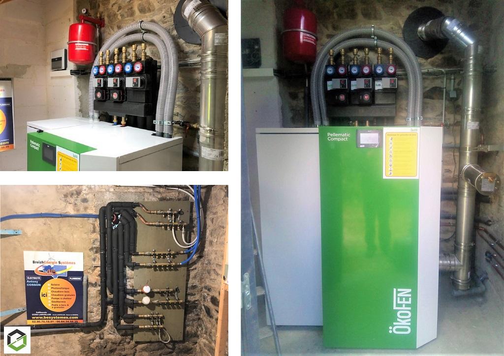 Installation d'une chaudière à granulés OKOFEN Pellematic avec Eau Chaude Sanitaire
