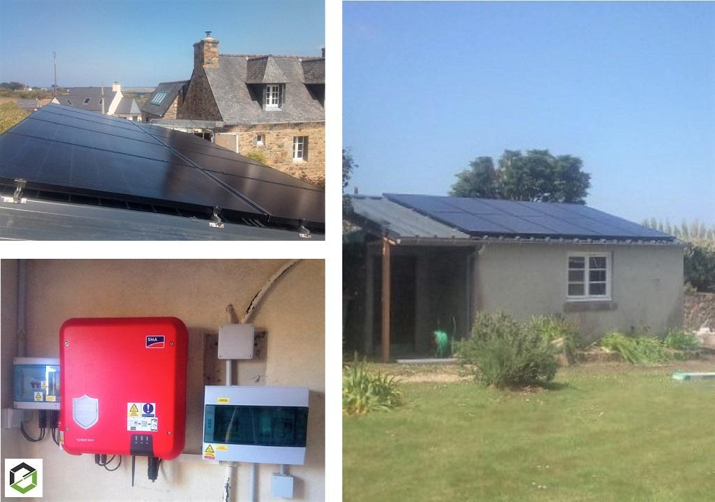 Installation panneaux solaires photovoltaïques 3 KWC chez un particulier