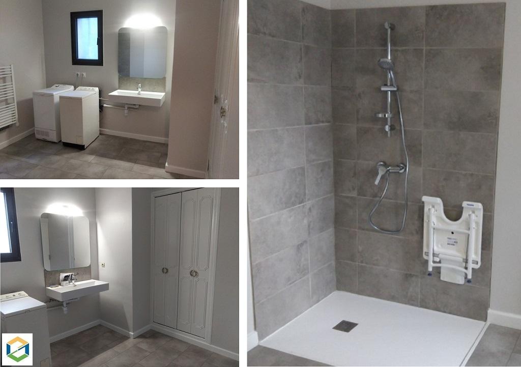 Adaptation d'une salle de bain à la perte de mobilité