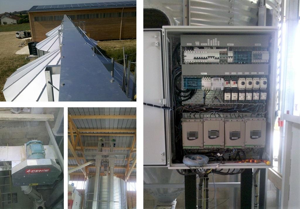 Installation électrique silo agricole-Gers (32)