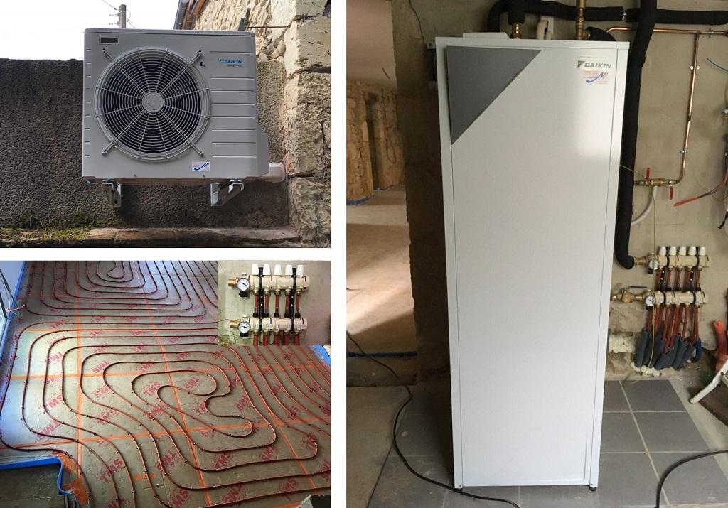 Installation Chauffage au sol + pompe à chaleur-Gers (32)