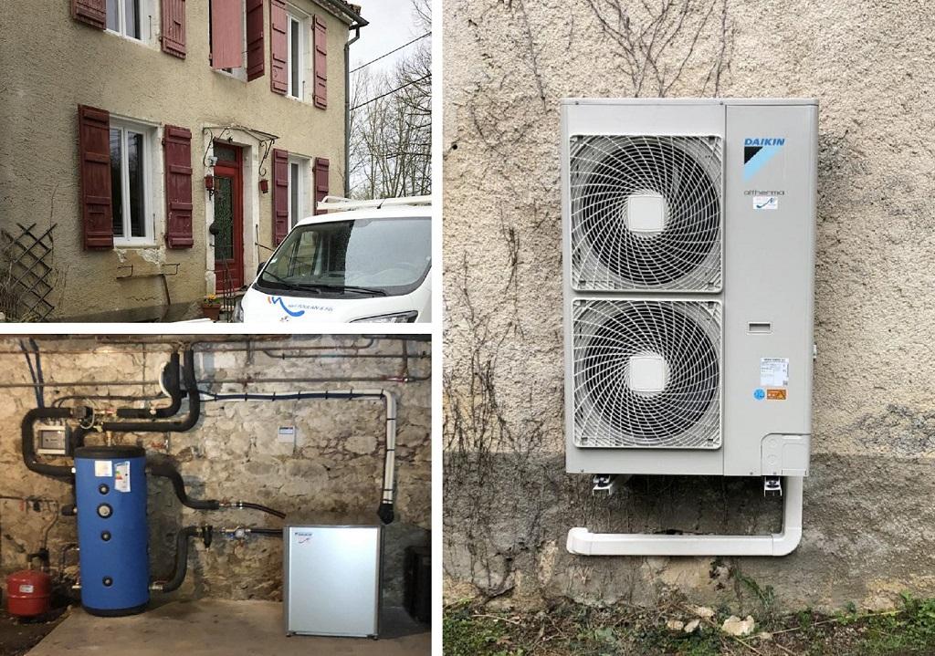 Installation pompe à chaleur air-eau - Entreprise RGE Qualipac -Gers (32)