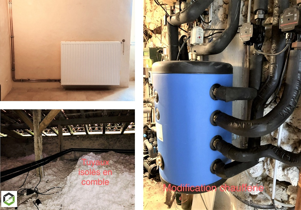 Installation chauffage central -Gers (32)