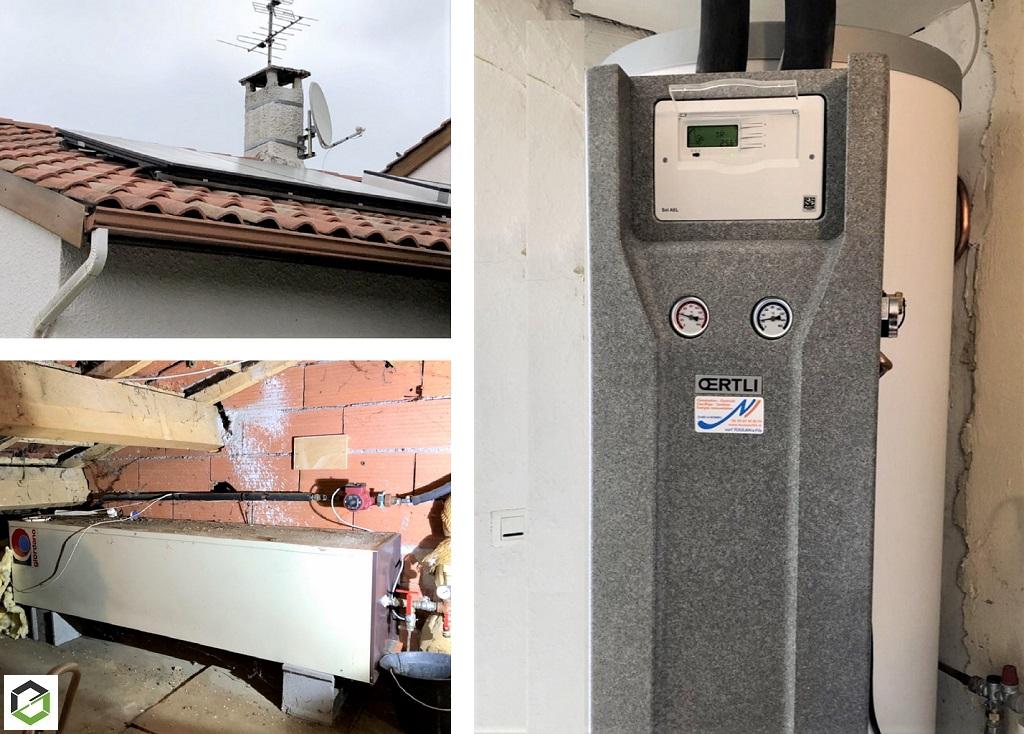 Installation chauffe-eau solaire Oertli - entreprise RGE Qualisol-Gers (32)