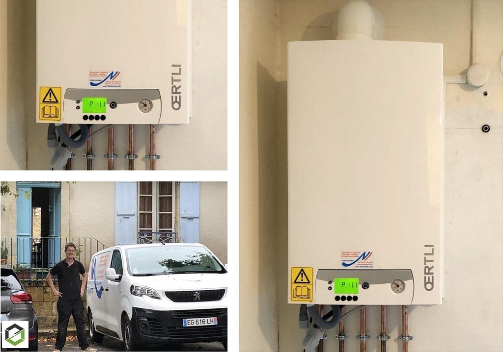Remplacement d'une chaudière gaz par une chaudière gaz condensation -Gers (32)