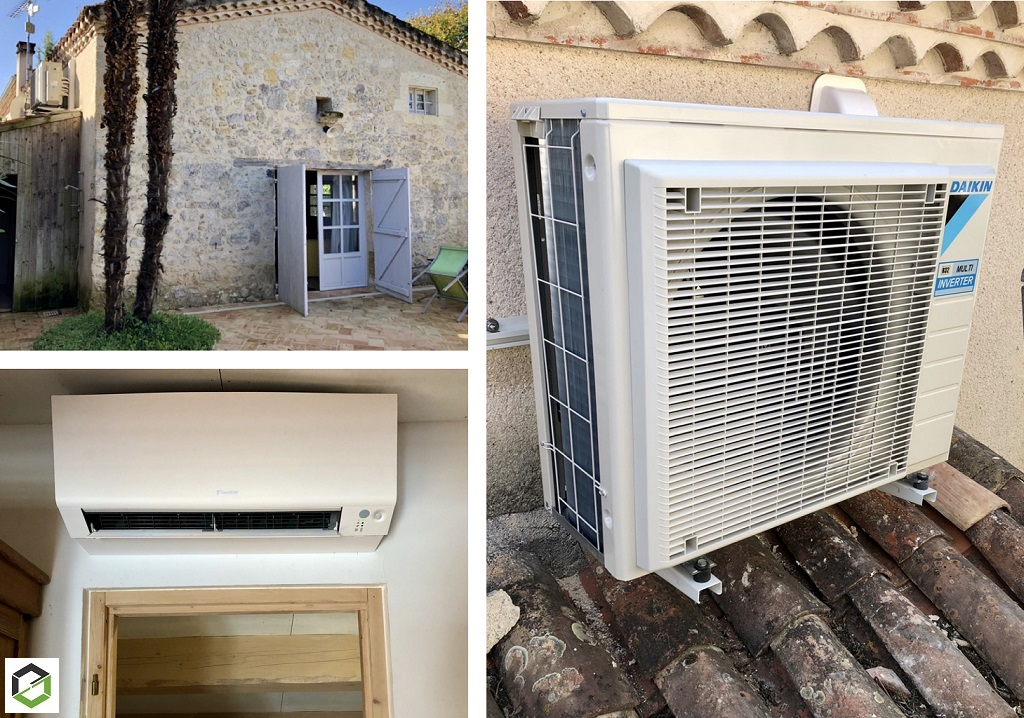 Installation pompe à chaleur Air/Air climatisation réversible -Gers (32)