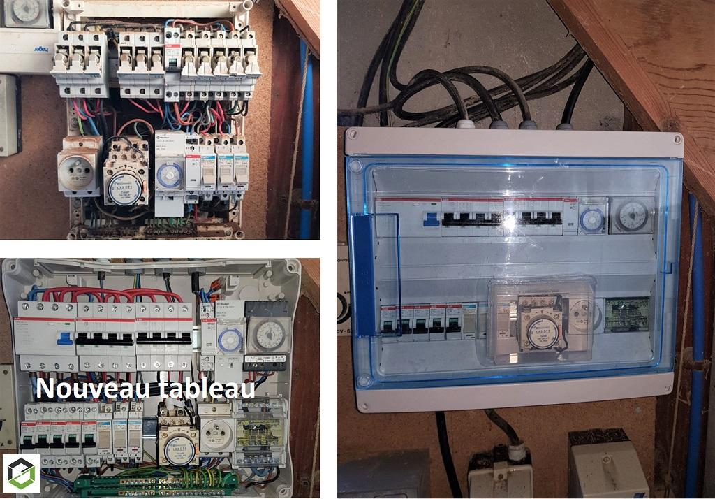 Rénovation armoire électrique bâtiment élevage poulet