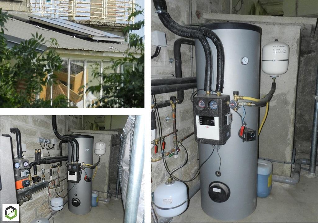 Installation d'un chauffe-eau Solaire thermique (CESI)
